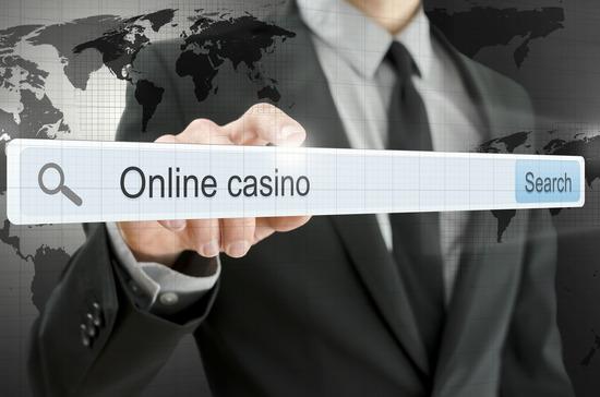 Online casino written in search bar
